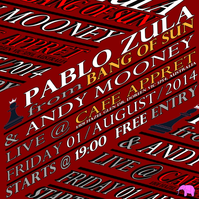 Pablo Zula live at Cafe Appret on the 1st of August, 2014